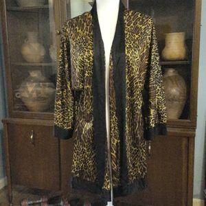 Vintage Frederick's of Hollywood animal print robe
